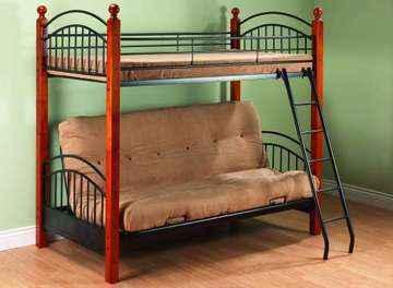Futon double avec lit superpos 39 39 39 marchandise ameublement et d - Lit mezzanine avec futon ...