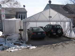 Structure de garage de toile portique v hicules for Garage de toile